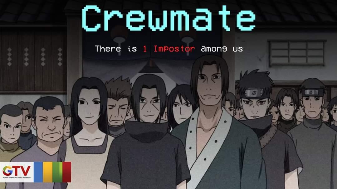 10 Meme Among Us Bertema Naruto