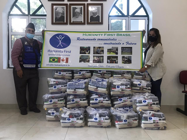 ONG ligada à Associação Ahmadia do Islã no Brasil doa 40 cestas básicas à Petrópolis