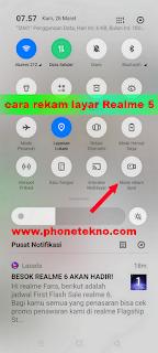Cara mengaktifkan fitur rekam layar Realme 5