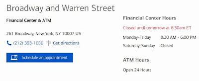 Bank of America Hours of Operations