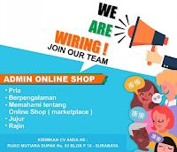 Lowongan Kerja Surabaya di Ruko Mutiara Dupak Desember 2019