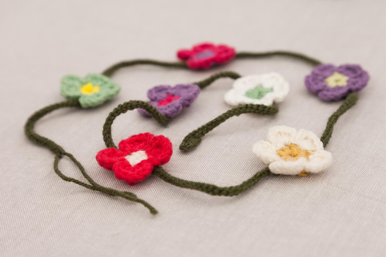 Mircoles Mudo Guirnalda de Flores de Ganchillo El blog de Blanqui