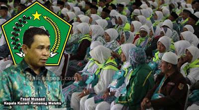 """Ambon, Malukupost.com - Kepala Kanwil Kementerian Agaman (Kemenag) Maluku, Fesal Musad mengatakan kuota haji Maluku setiap tahun bertambah cukup signifikan dari biasanya 569 calon jamaah haji (CJH) naik menjadi 1.090 orang dan sekarang 1.272 calon jamaah    """"Awalnya diminta penambahan 459 CJH tetapi tidak dikabulkan dan hanya disetujui penambahan 182 calon jamaah,"""" ujarnya dalam rapat kerja dengan Komisi D DPRD Maluku di Ambon, Kamis (13/6)."""