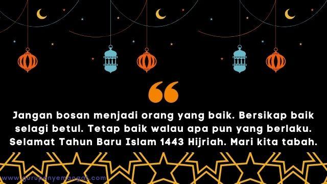 Gambar Ucapan Selamat Tahun Baru Islam 1443 H Melayu 17