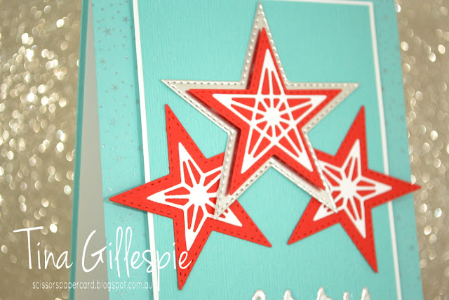scissorspapercard, Stampin' Up!, Art With Heart, Heart Of Christmas, Christmas, So Many Stars Bundle, Merry Greetings, Silvery Shimmer Delicata, Greatest Part Of Christmas