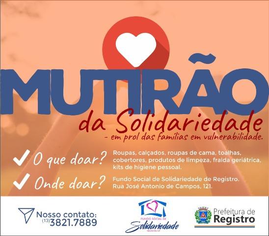 Mutirão da Solidariedade em prol das famílias em vulnerabilidade