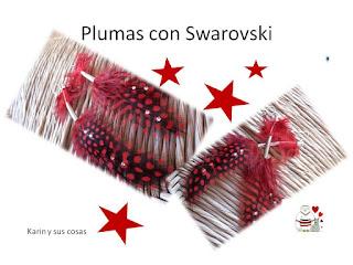 Plumas de la pasion con Swarovski Octubre 2017
