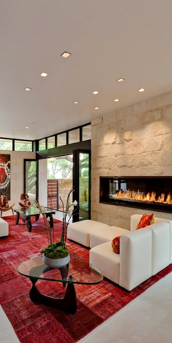 Diseos de sala con paredes de piedra  Colores en Casa