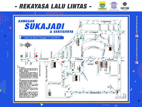 Peta Rekayasa Lalu Lintas Jalan Sukajadi