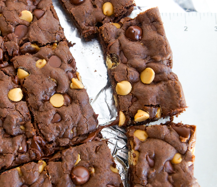 Chocolate Peanut Butter Cake Mix Cookie Bars recipe, using just five ingredients