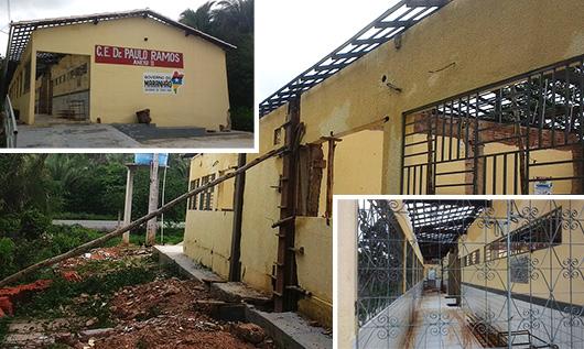 'Escola digna' de Flavio Dino desaba na zona rural de Chapadinha