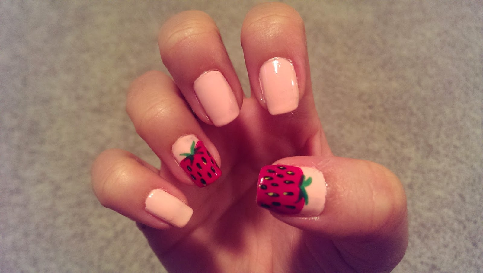 Manicure Monday Strawberry Nail Art See The World In Pink