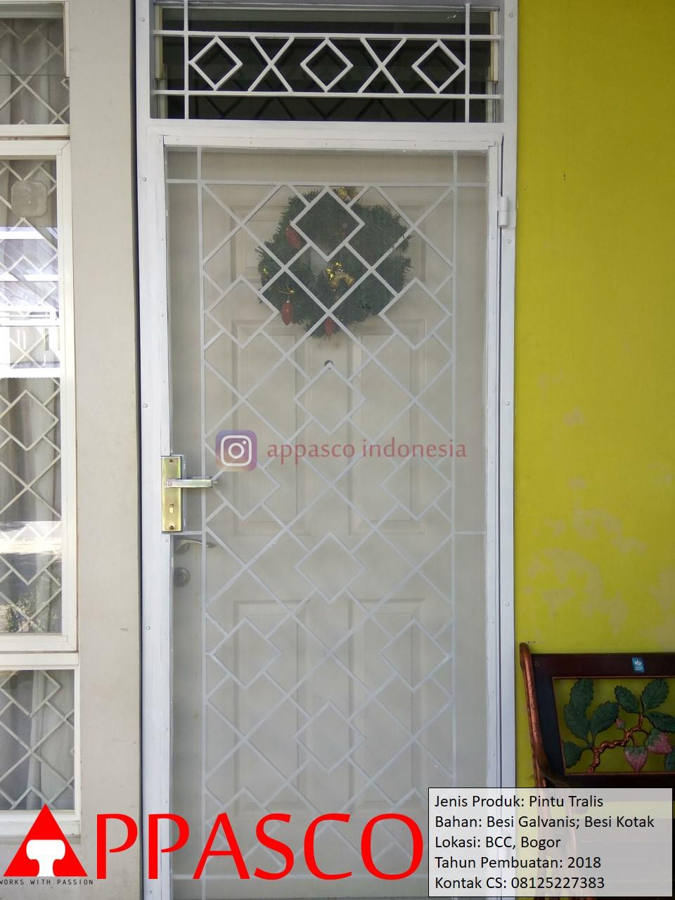 Pintu Teralis Minimalis Besi Siku Kotak di BCC Bogor