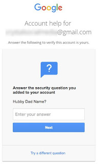 Answer the security question you added to your account