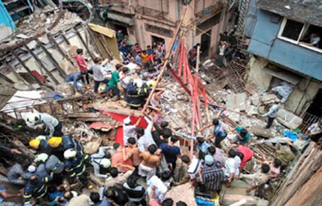 10 dead in Mumbai, many people still buried in the building's debris
