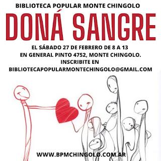 Campaña de donación de sangre en la Biblioteca Popular Monte Chingolo