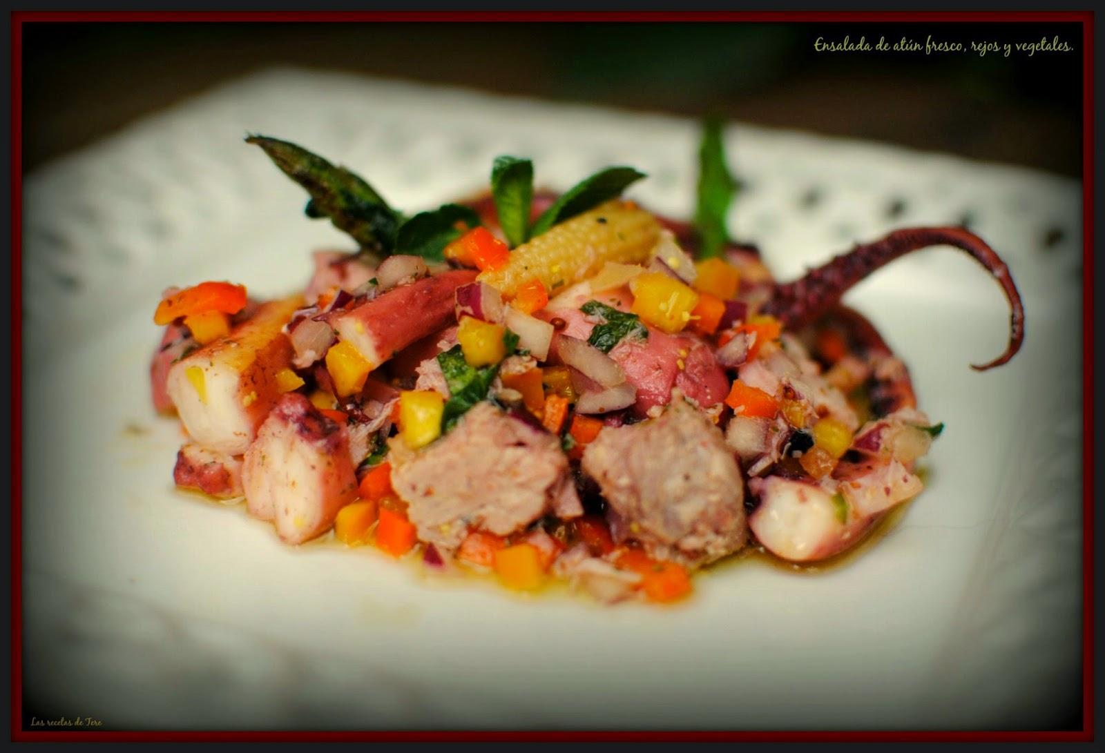 ensalada de atún fresco rejos y vegetales tererecetas 04