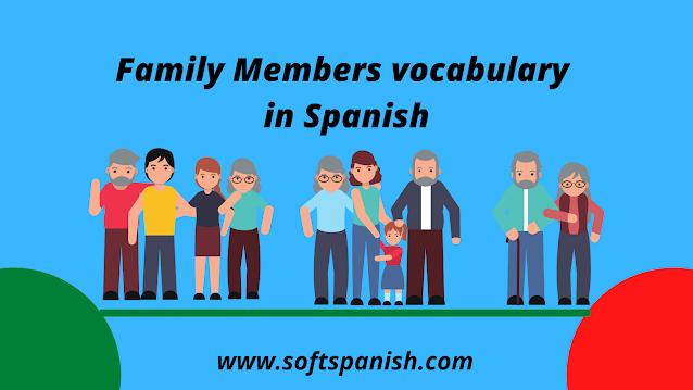 Family members in spanish, learn spanish in india, spanish in india, spanish courses in india
