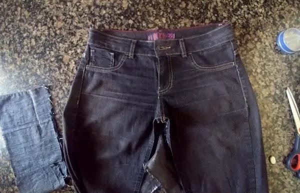 Como alargar calça jeans
