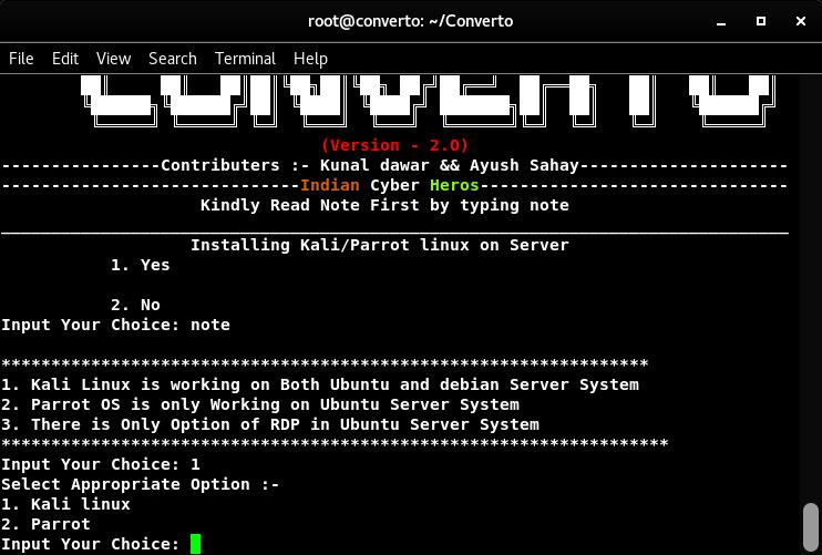 Converto : Installing Kali Linux on VPS Server 2019