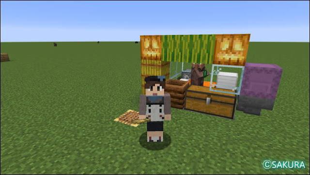 Minecraft 自動小麦畑兼取引所の全体