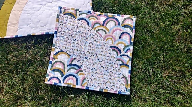 Bundle of Joy rainbow baby NICU quilt by Slice of Pi Quilts