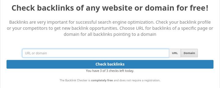 Seobility backlinks checker