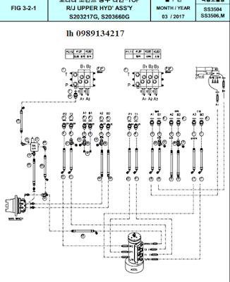 Thành phần mạch thủy lực Dong Yang 15 tấn SS3504-SS3506-SS3506M