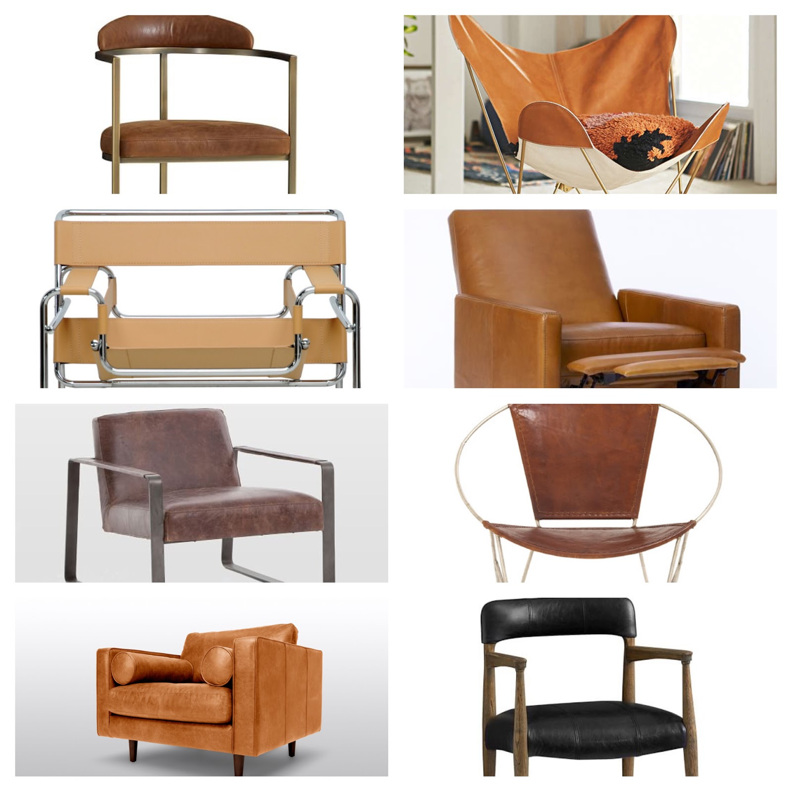 My Sweet Savannah my favorite modern leather chairs