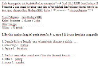 Soal-UAS-UKK-SBK-kelas-5-SD-Semester-2