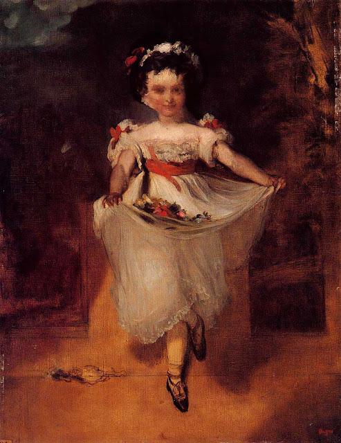 Эдгар Дега - Маленькая девочка с цветами в переднике (1860-1862)