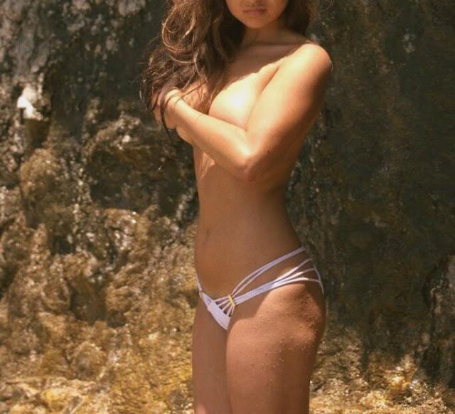 kelly fountain, laguna beach, photoshoot, swimwear, model