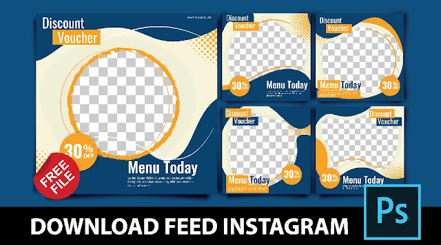 Download Desain Feed Instagram Photoshop Gratis