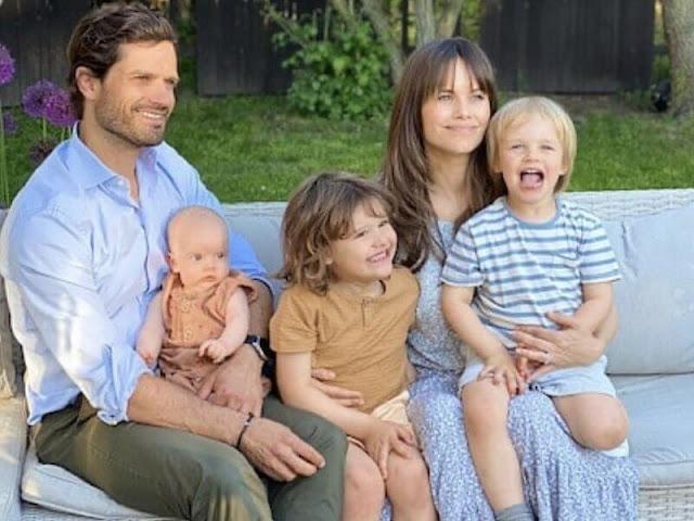 Prince Carl Philip, Princess Sofia, Prince Alexander, Prince Gabriel and little Prince Julian. Crown Princess Victoria