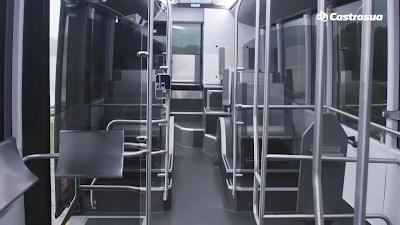 Interior del autobús. Imagen: Castrosua