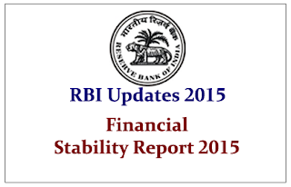 RBI Updates 2015- Financial Stability Report 2015