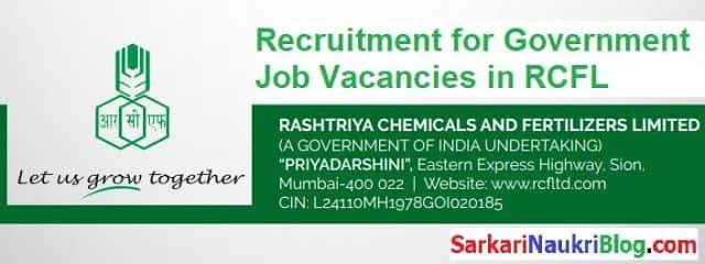 RCFL Government Job Vacancies