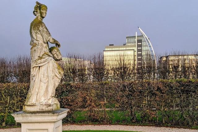 Formal gardens at the Irish Museum of Modern Art (IMMA)