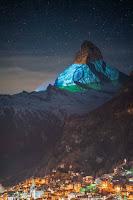 Matterhorn mountain Indian flag