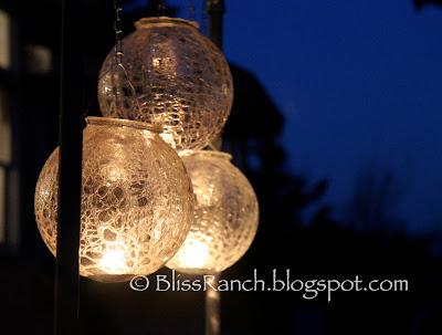 Light Globes as patio lights, Bliss-Ranch.com