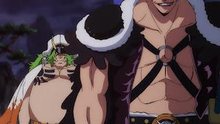 ワンピースアニメ 989話 | 狂死郎 百獣海賊団 飛び六胞 ササキ SASAKI  | ONE PIECE Beasts Pirates Tobiroppo