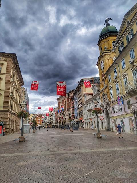 centrum miasta Rijeka, Chorwacja, Covid 19