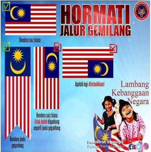 Cara Yang Betul Pasang Bendera Malaysia