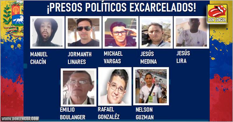 Ocho presos políticos secuestrados por el Régimen fueron liberados