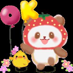 Strawberry panda animation