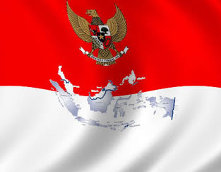 bendera peta Indonesia
