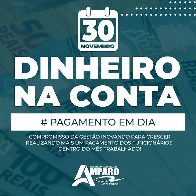Prefeitura de Amparo realiza o pagamento do mês de Novembro para seus funcionários