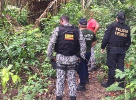 Operação conjunta da PF, Força Nacional e Funai combate invasões e desmatamento