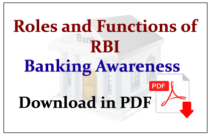 Roles and Functions of RBI download in PDF