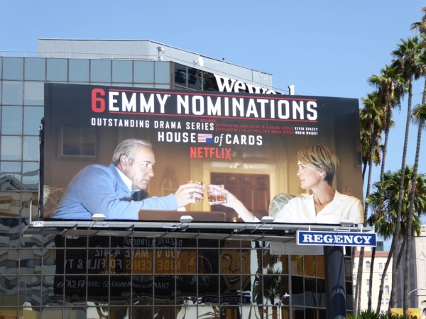 House of Cards 2017 Emmy nominations billboard